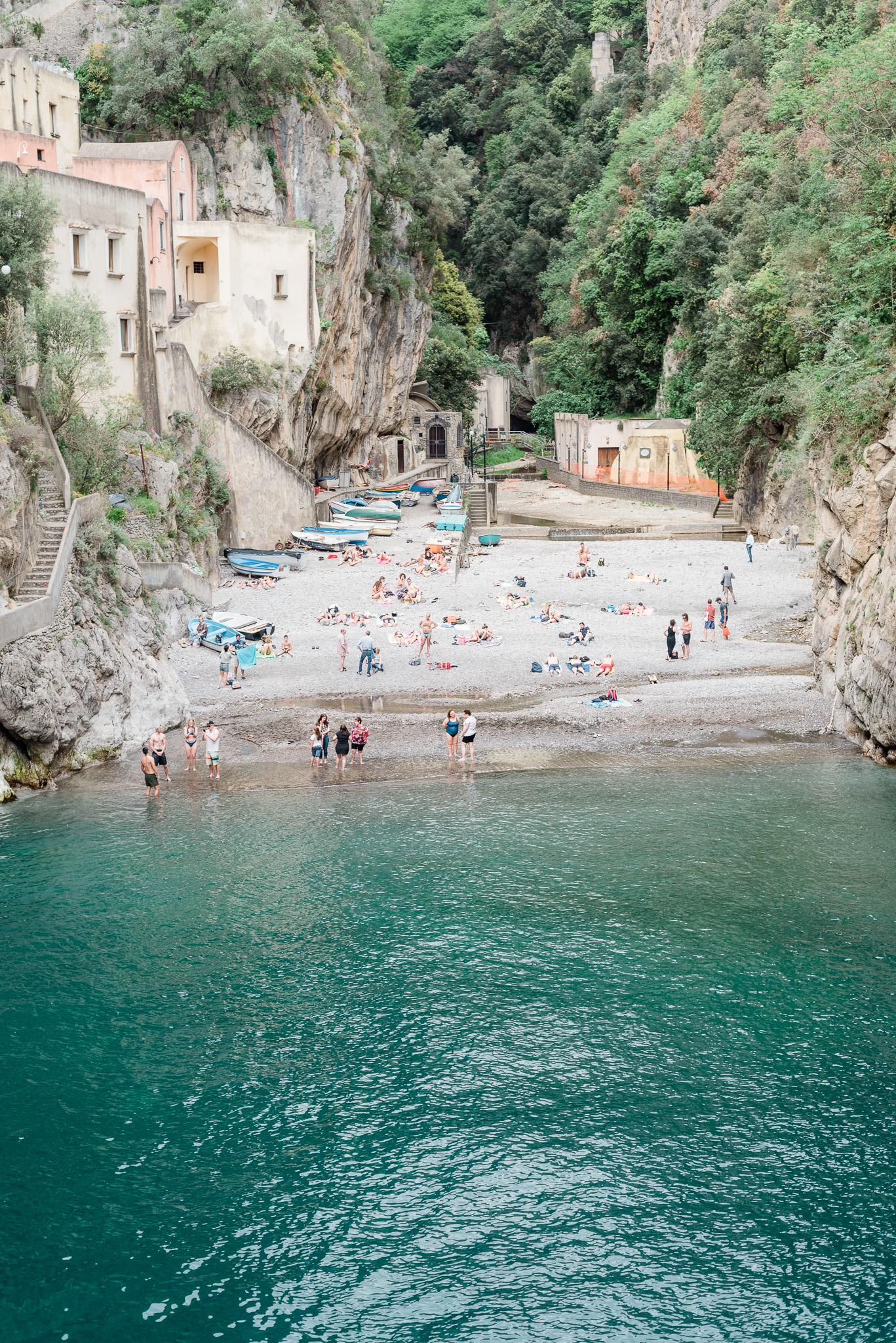 The best beach in Amalfi, Fiordo di Furore (Furore Beach), Amalfi Coast, Italy by Jenn Kavanagh Photography