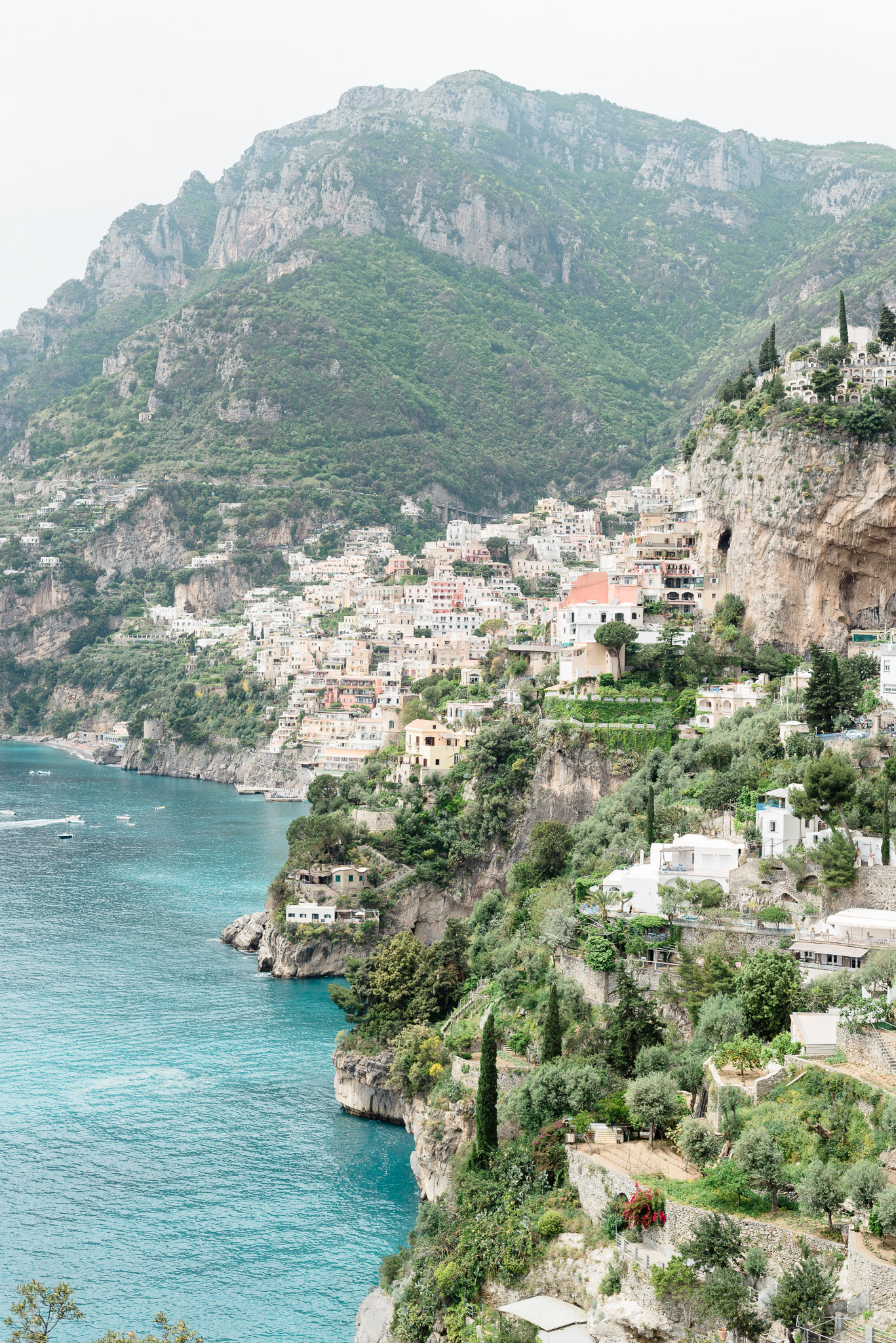 Positano, view from the Path of the Gods | Amalfi Coast by Jenn Kavanagh Photography