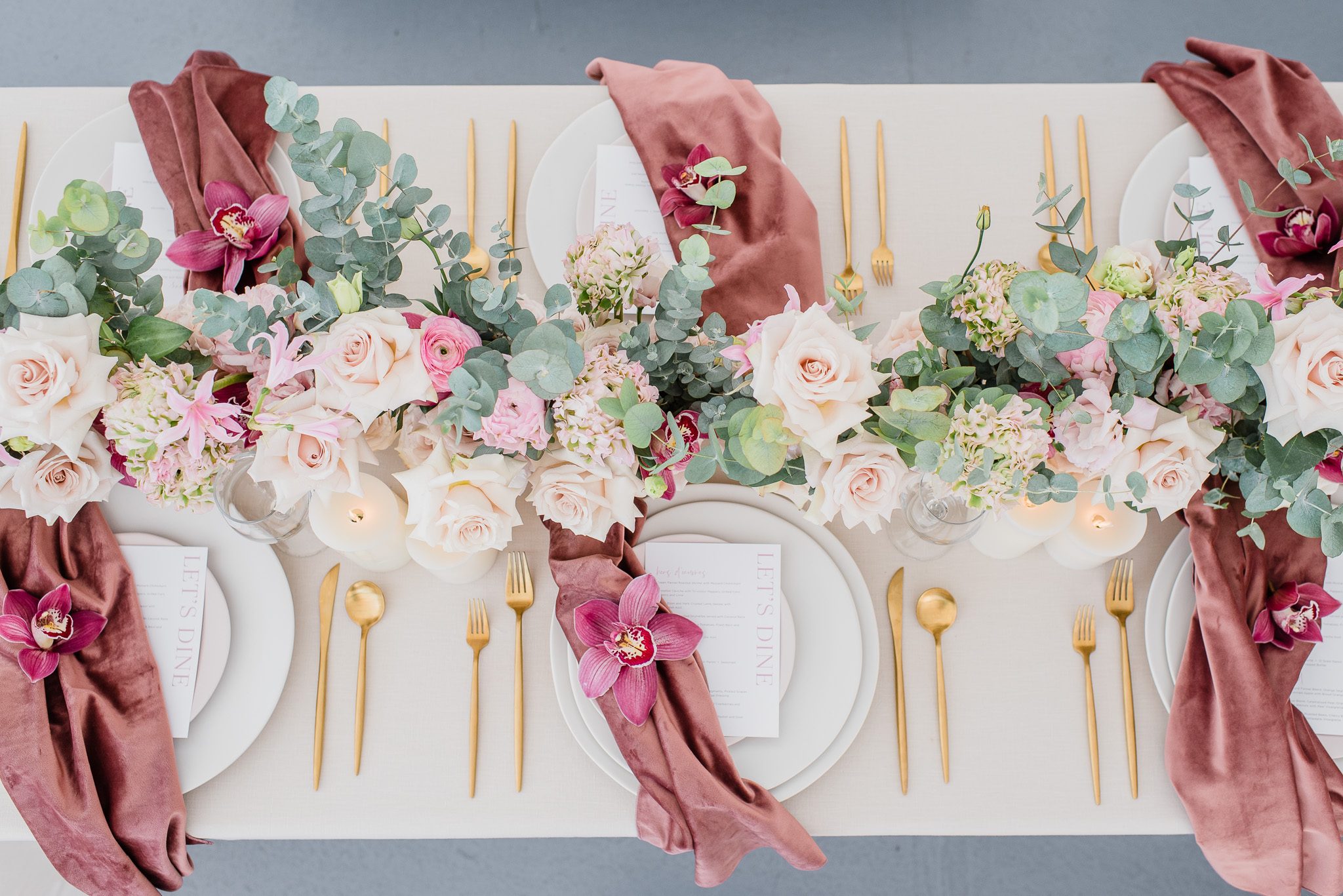 Velvet Napkins courtesy of Simply Beautiful Decor | Jenn Kavanagh Photography