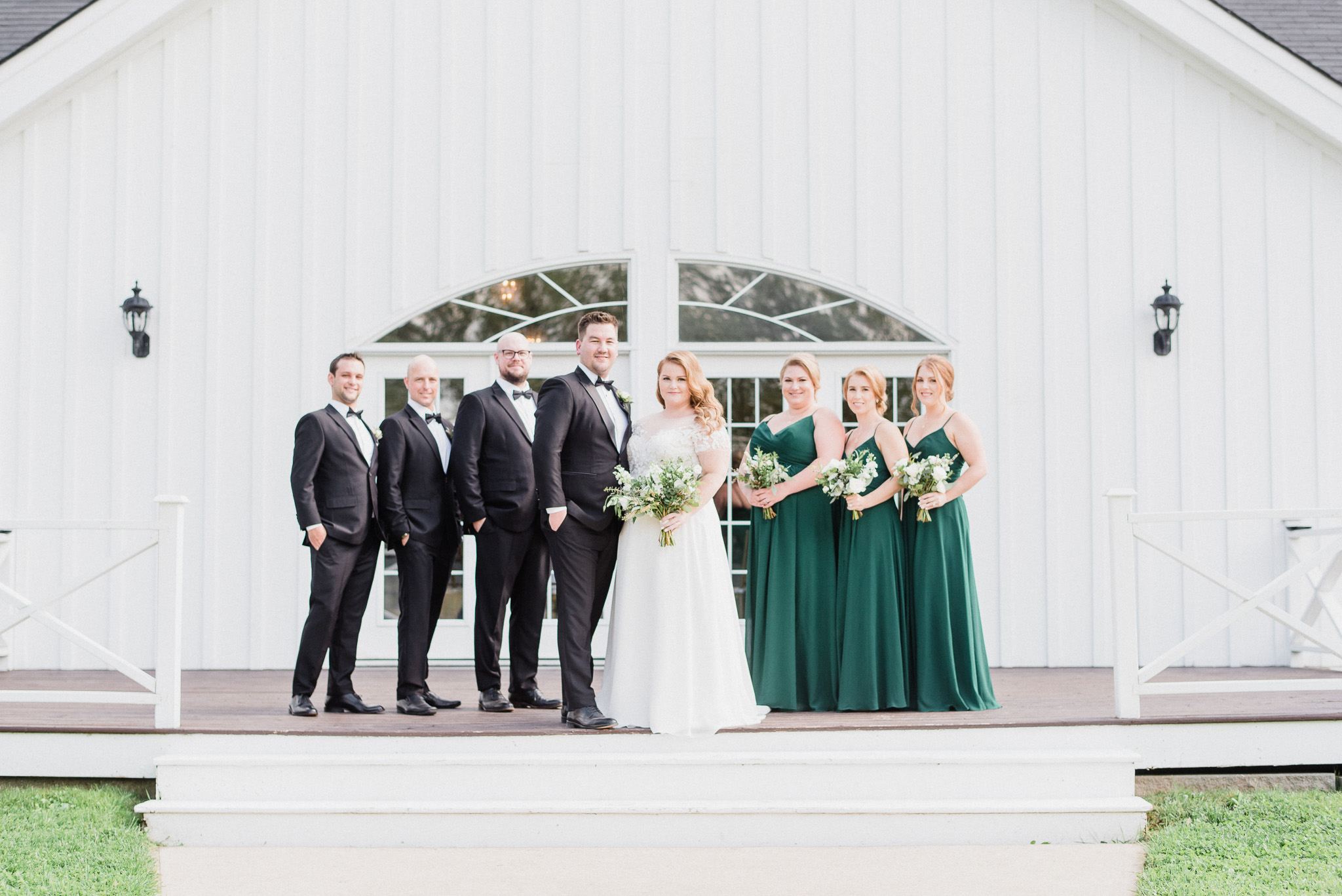 Forest green bridesmaids dresses by Jenn Kavanagh Photography