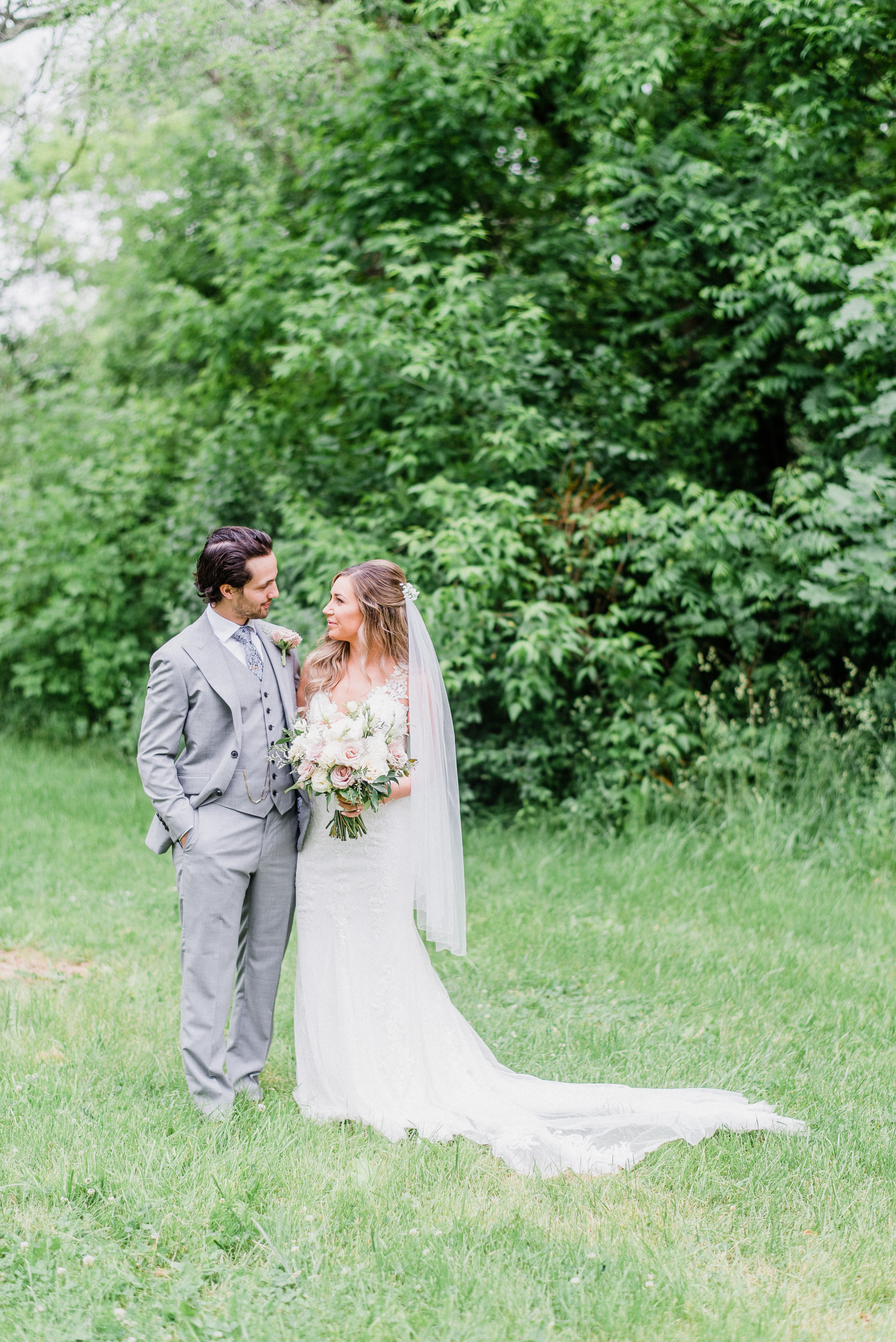 Bride and Groom Portraits at LaSalle Park Conference Centre by Jenn Kavanagh Photography | Burlington, Ontario Wedding