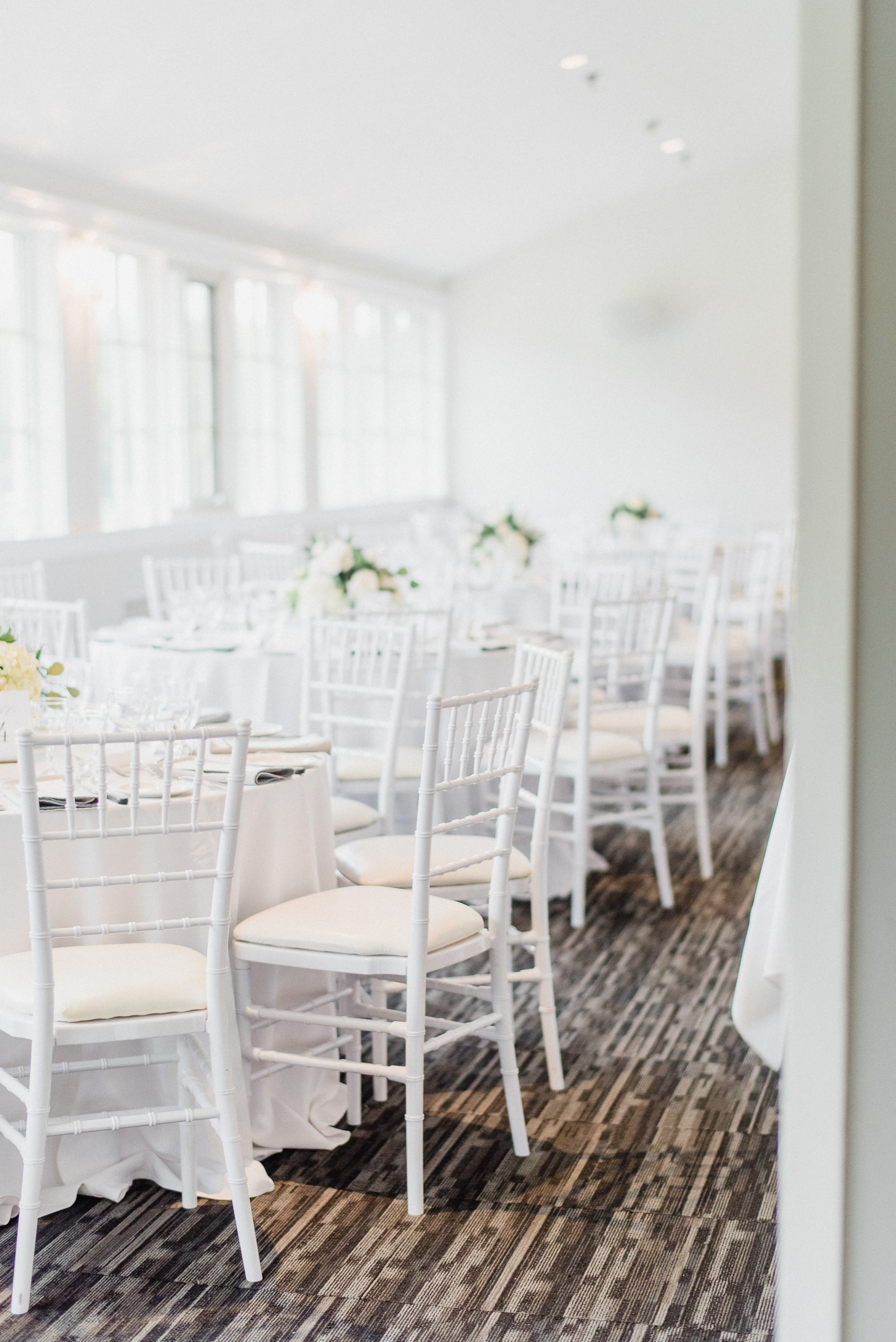 White Chiavari Chairs | LaSalle Banquet Centre Wedding | Jenn Kavanagh Photography