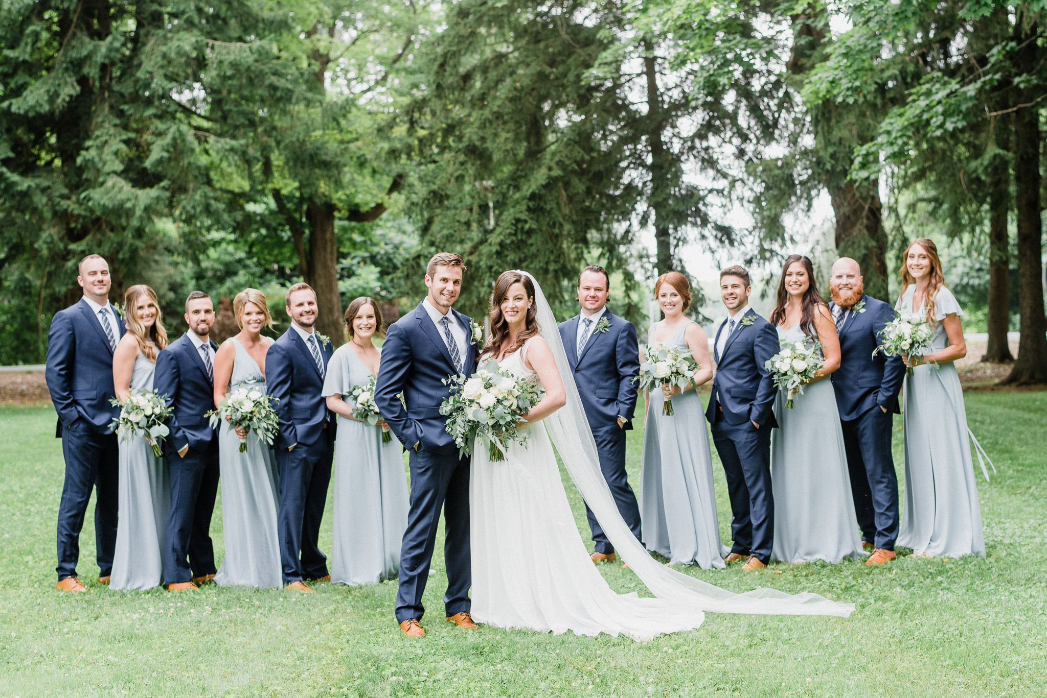 Show Me Your Mumu Steel Blue bridesmaid dresses by Jenn Kavanagh Photography
