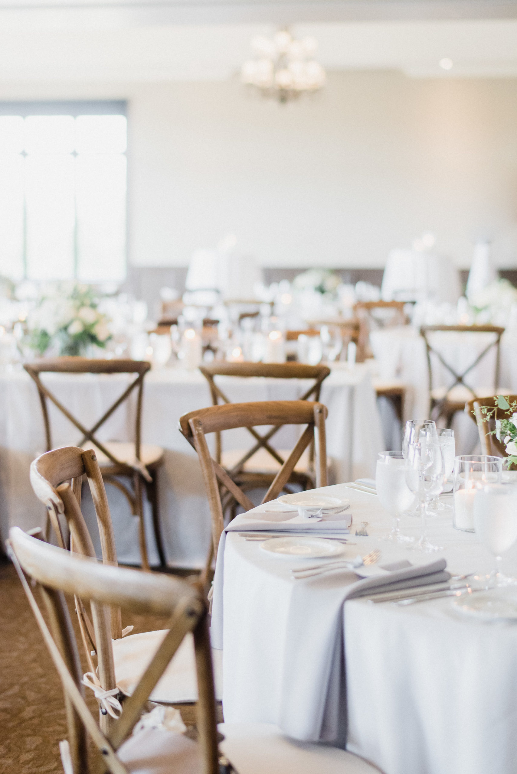 Crossback Chairs | Elegant and simple Barrie wedding by Jenn Kavanagh Photography