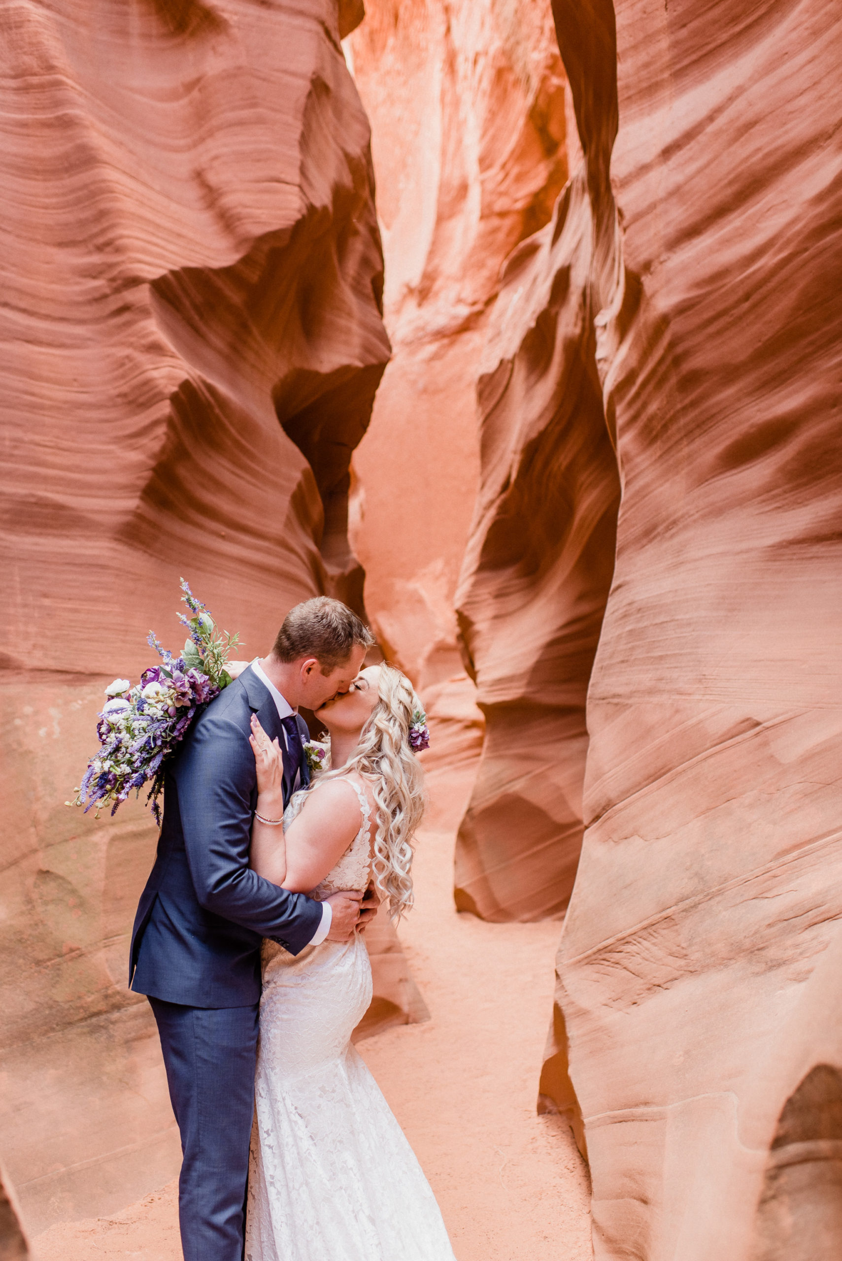 Slot Canyon wedding photos in Page, Arizona by Jenn Kavanagh Photography