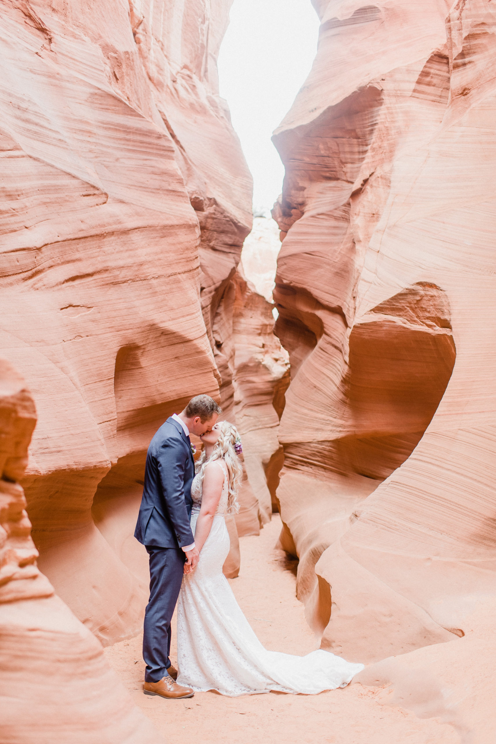 Antelope Canyon wedding photos by Jenn Kavanagh Photography