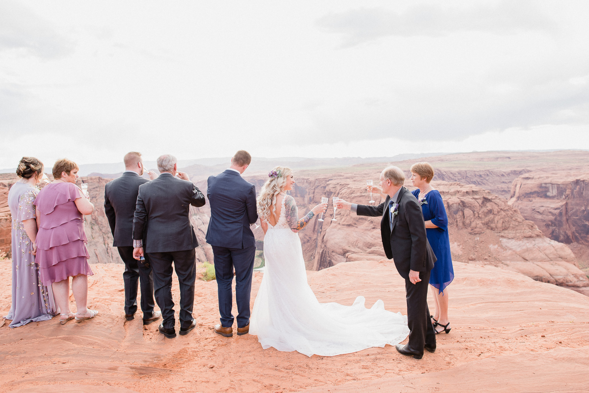 Wedding photos at Horseshoe Bend, in Page, AZ Jenn Kavanagh Photography