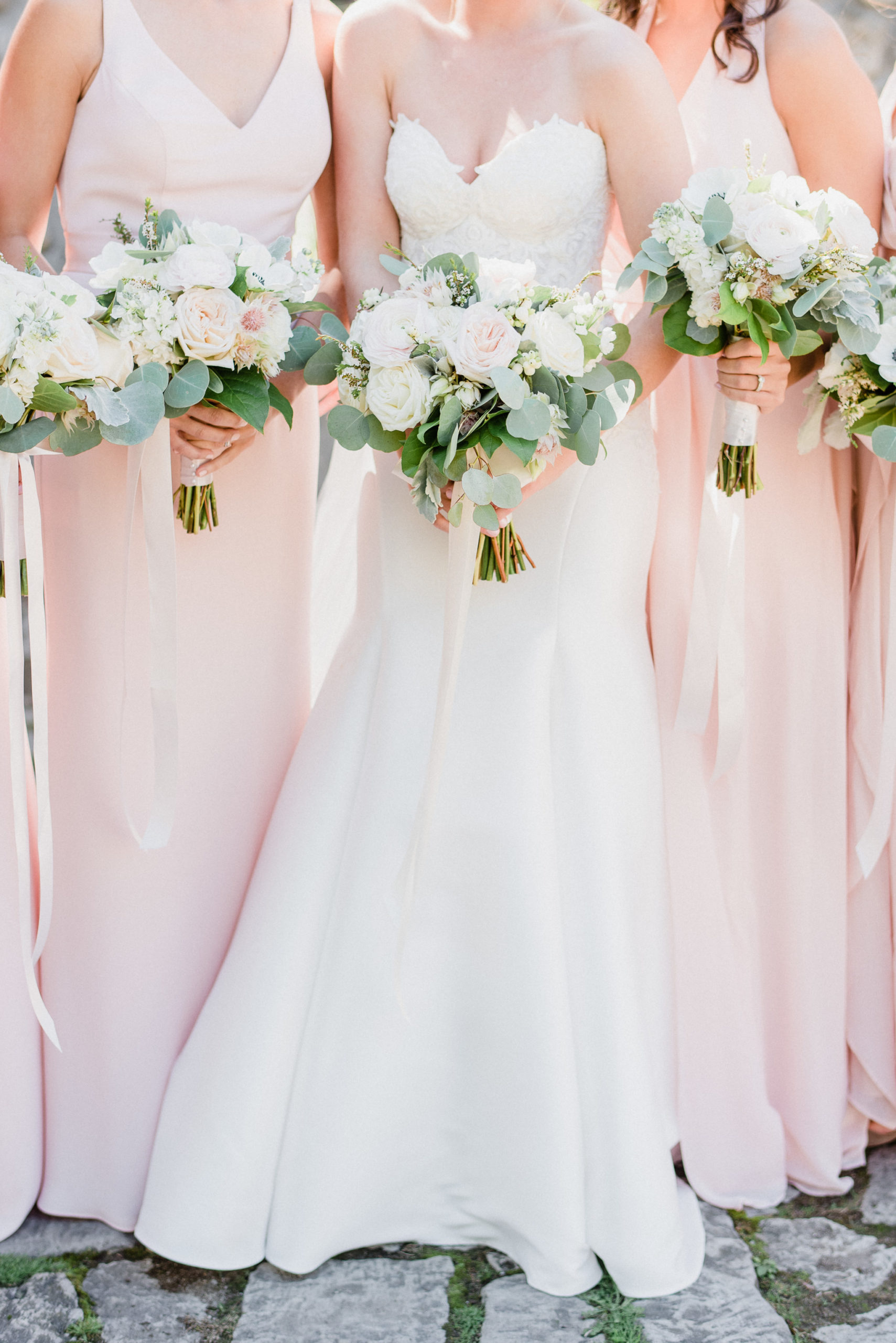 Blush pink bridesmaids photographed by Hamilton Wedding Photographer, Jenn Kavanagh Photography