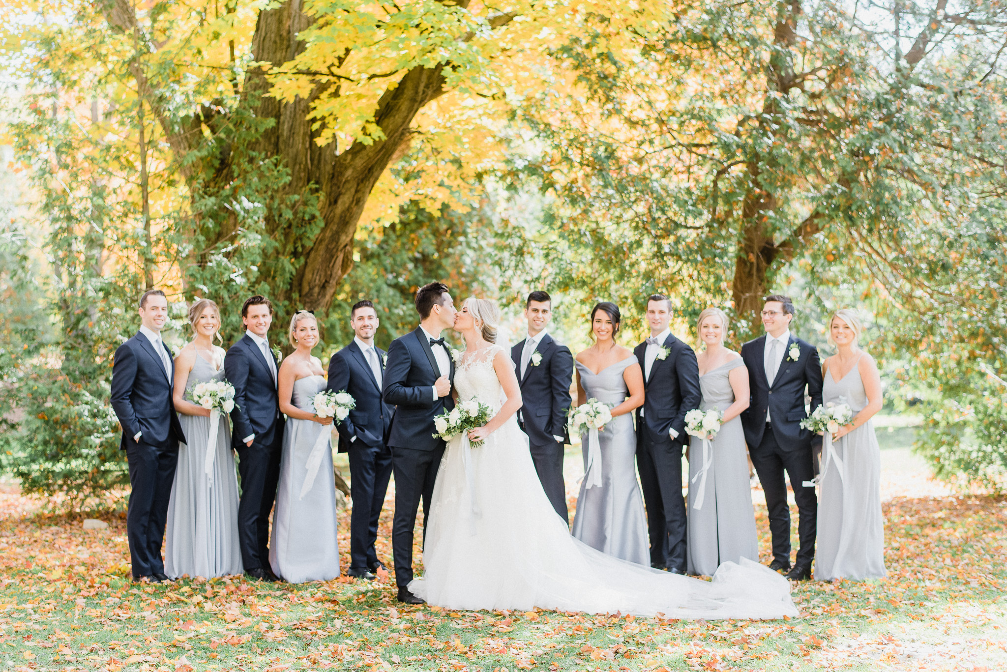 Fall wedding at the Elora Mill by Jenn Kavanagh Photography