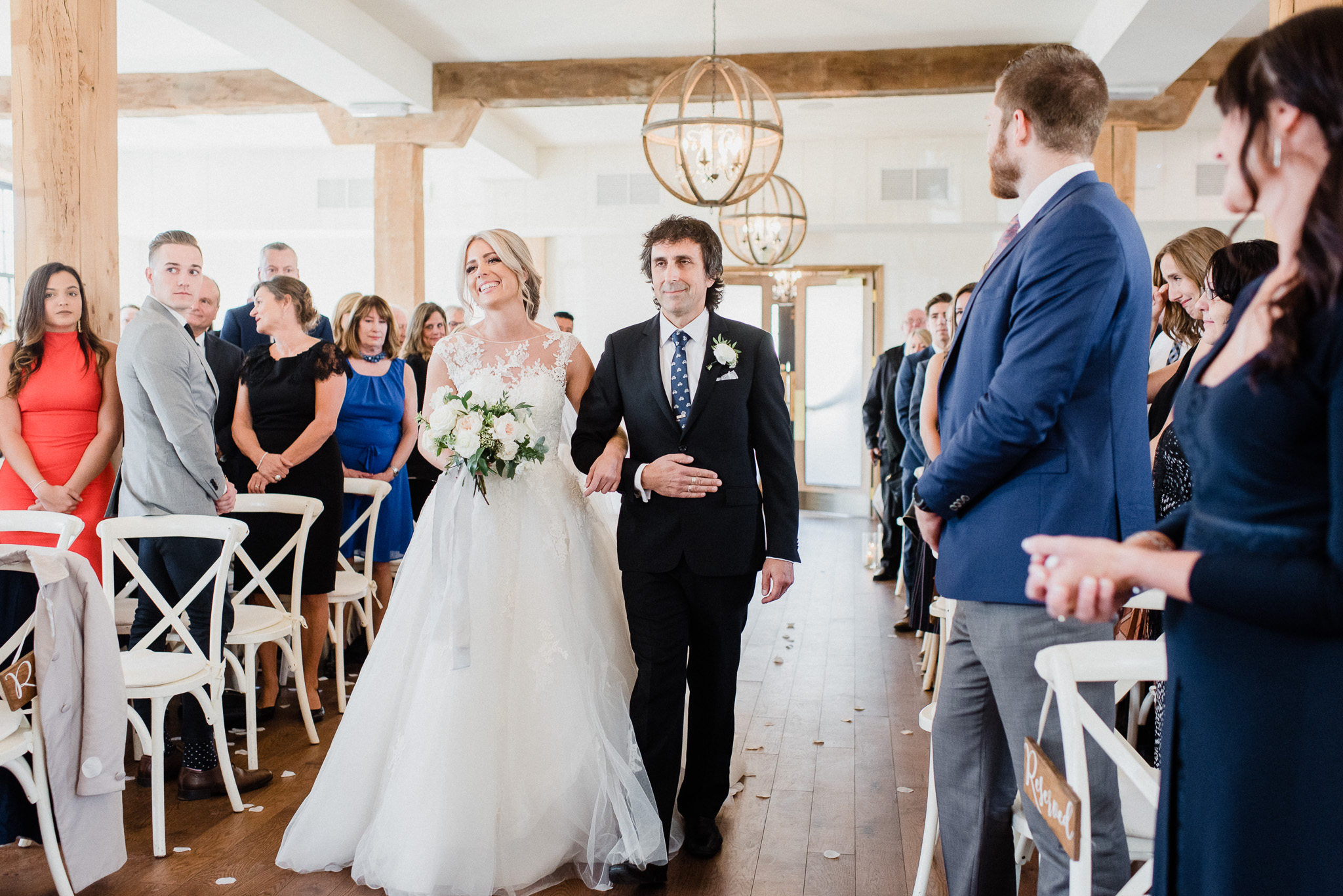 The Foundry indoor ceremony space at the Elora Mill | Jenn Kavanagh Photography