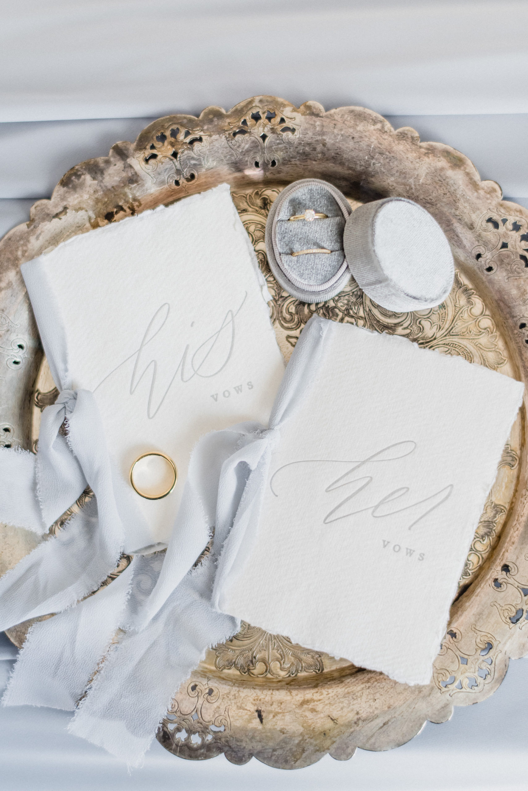 His and Hers vow books | Jenn Kavanagh Photography